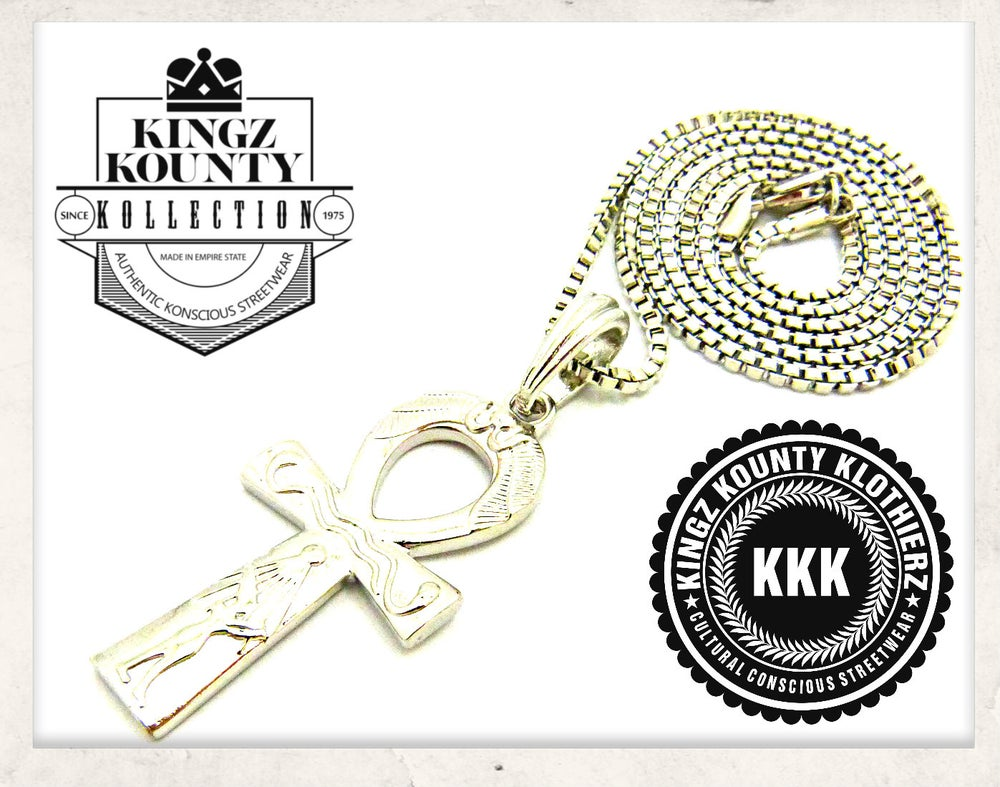Image of SILVER AHNK W/ BOX CHAIN