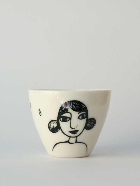 Image of Large cup </br> girl in black