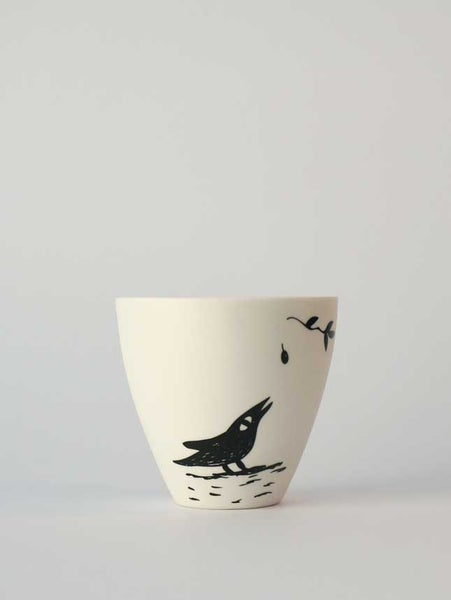 Image of Small cup </br> black bird - Matt