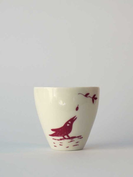 Image of Small cup </br> pink bird