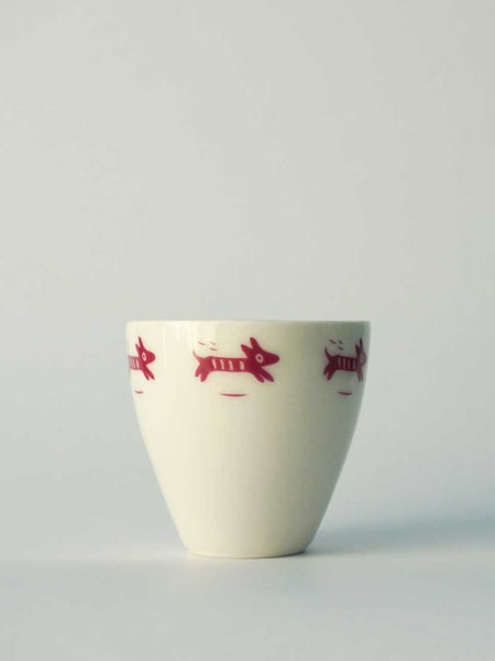 Image of small cup </br> pink dog
