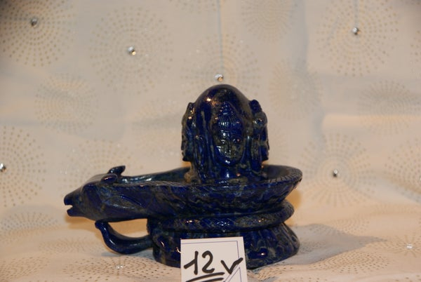 Image of Shiva et Lingam en Lapis Lazuli