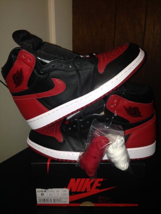 "Image of Air Jordan 1 Retro Hi OG ""Banned"" (GS)"