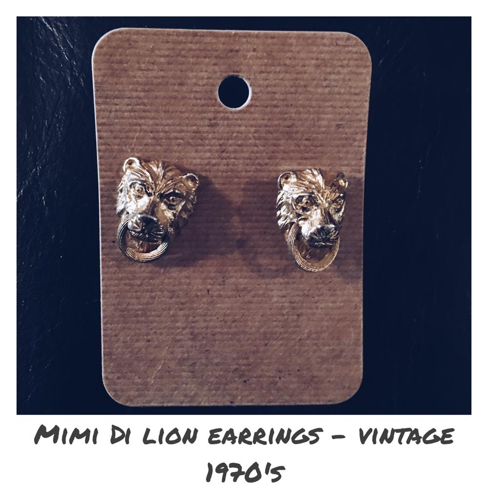 Image of Mimi Di Lion Door Knocker Earrings