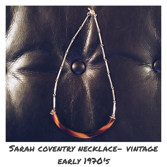 Image of Sarah Coventry Vintage Early 1970's Tortoise Shell Necklace