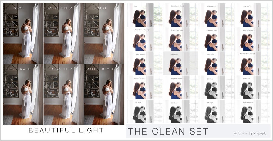 Image of The Clean set and Beautiful Light combo (LR 4 and up)