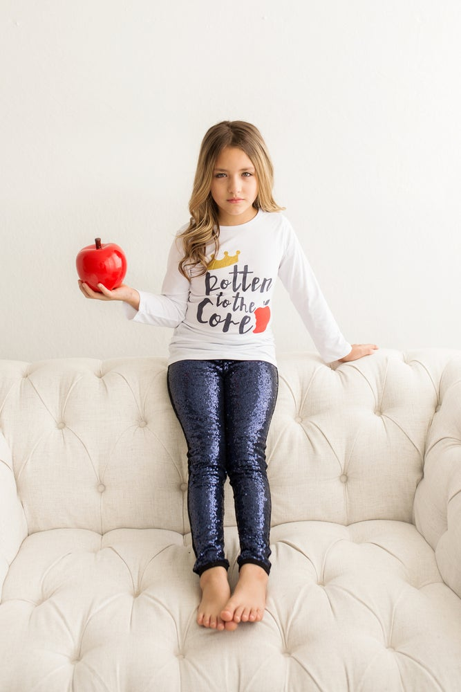 """Image of CLEARANCE! DISNEY Descendants inspired """"ROTTEN TO THE CORE"""" pants set, baby, toddler, girl, photos"""