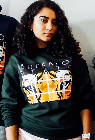 Image of Forest Green Crew-Neck Sweatshirt w/ the Bengal Logo