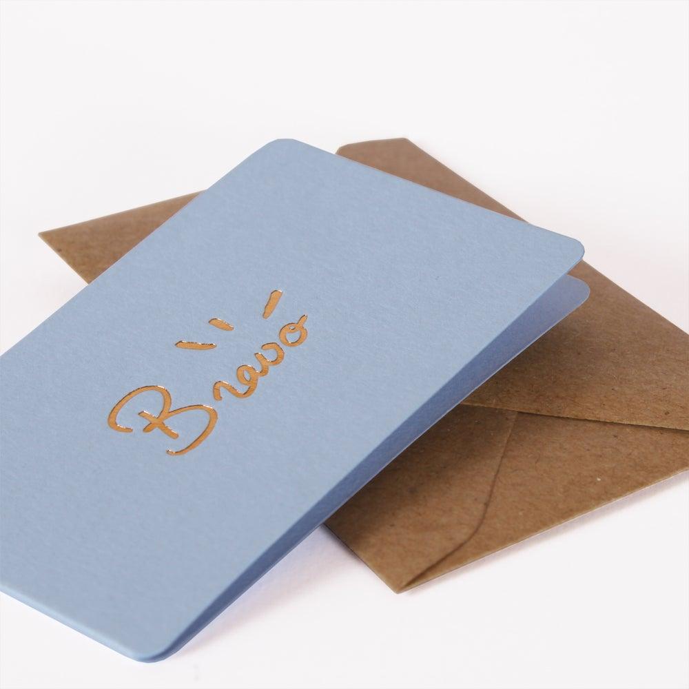 Image of MINI-CARTE BRAVO bleu pastel