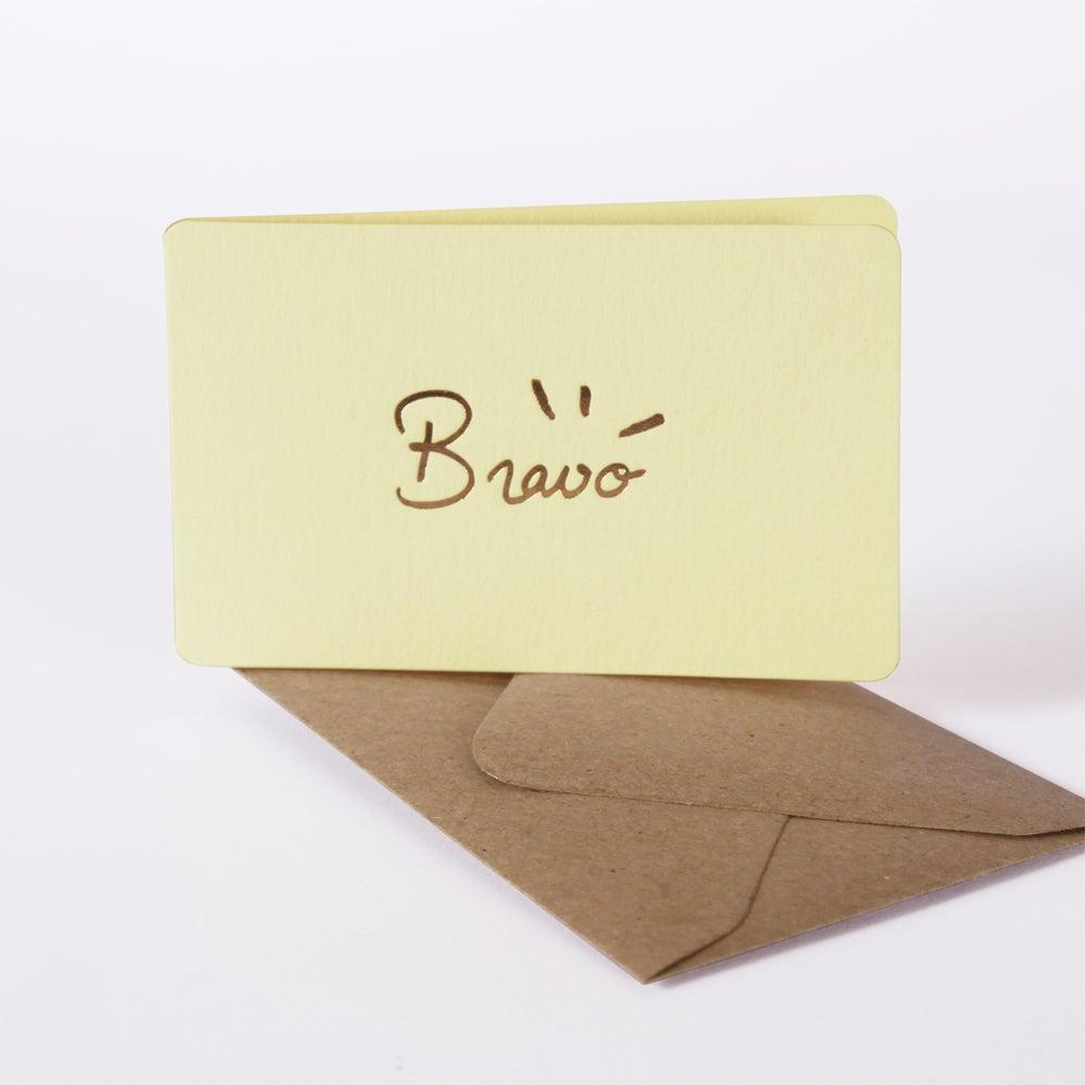 Image of MINI-CARTE BRAVO vanille