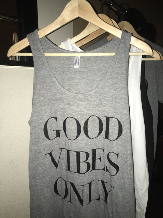Image of 'GOOD VIBES ONLY' Tank Top (Athletic Gray)