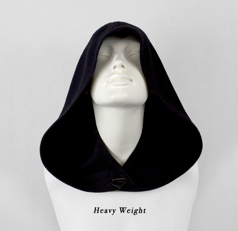 Image of Black Wool Hood