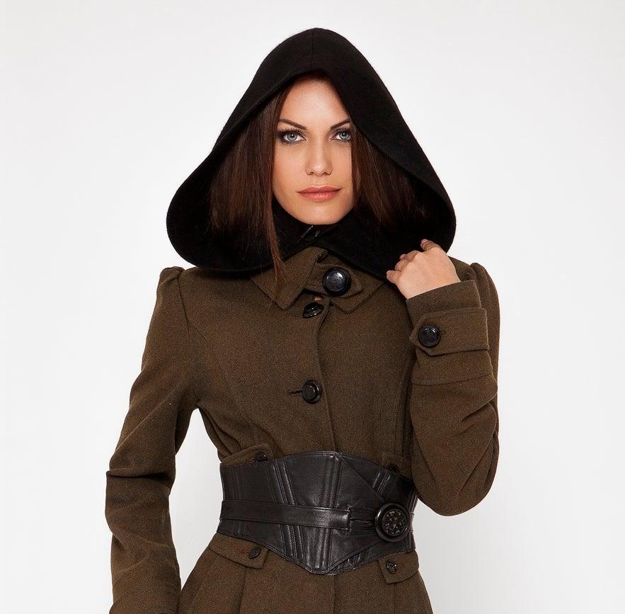 Image of Black Wool Hood