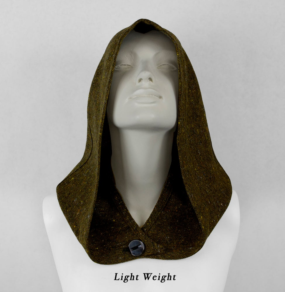 Image of Speckled Olive Wool Hood
