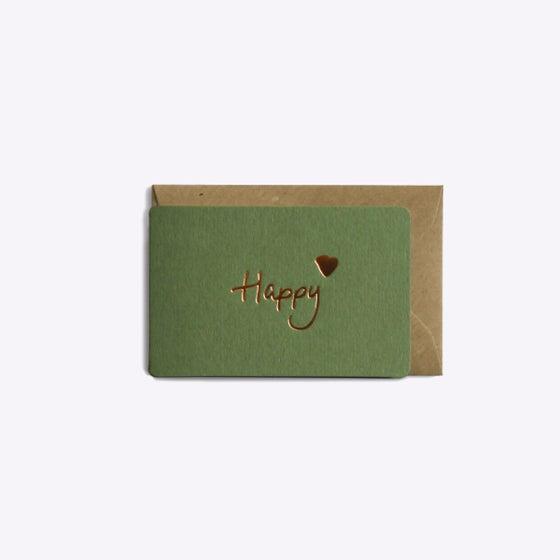 Image of MINI-CARTE HAPPY vert kaki