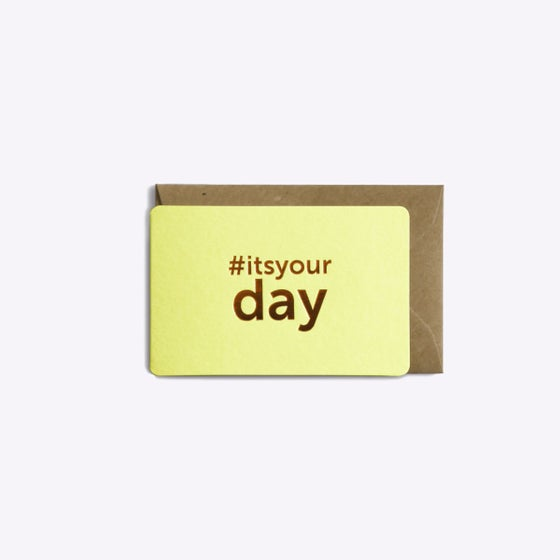 Image of MINI-CARTE IT'S YOUR DAY jaune pastel