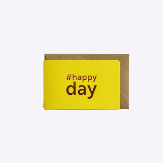 Image of MINI-CARTE HAPPY DAY jaune