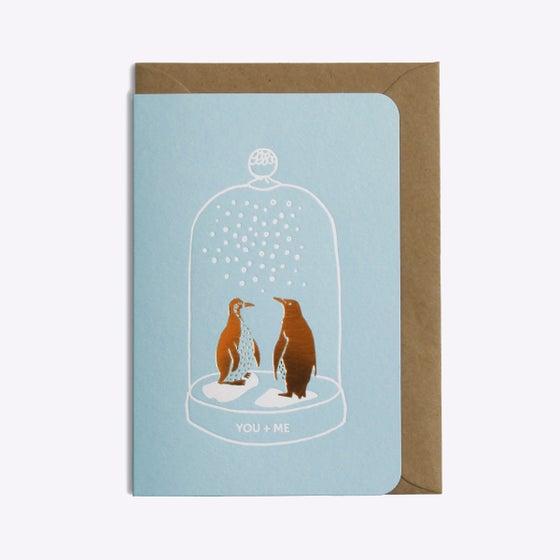 Image of Carte duo pingouins