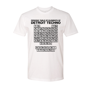 Image of Periodic Table of Elements of Detroit Techno - White