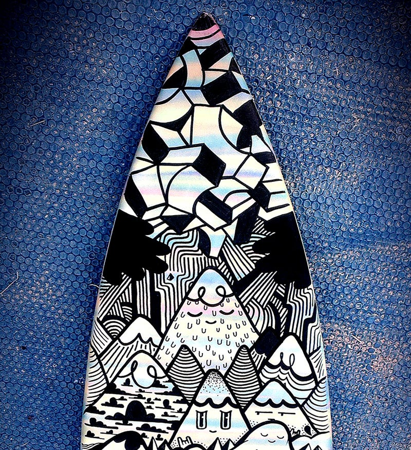 "Image of ""HAPPY MONDAYS"" CUSTOM SURFBOARD"