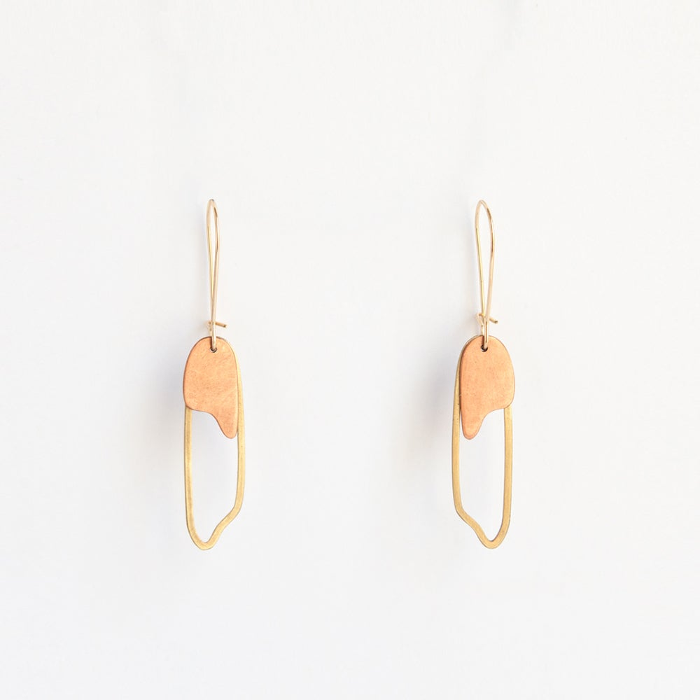 Image of Layered Metals Earrings