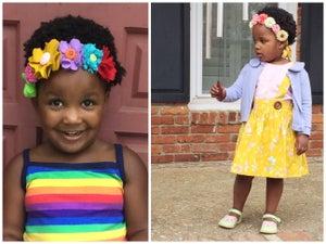 Image of Custom felt floral headband