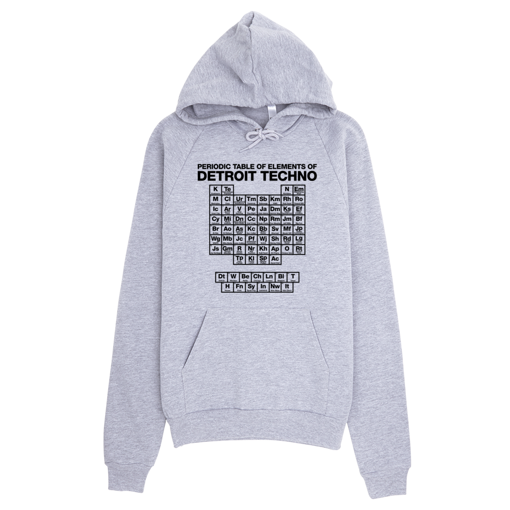 Image of Periodic Table of Detroit Techno Elements Hoodie- Grey