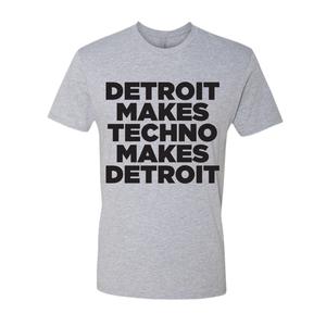 Image of Detroit Makes Techno short sleeve - grey