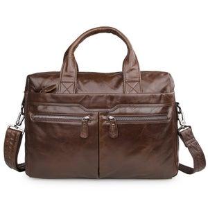 """Image of Men's Handmade Vintage Leather Briefcase / Messenger / 13"""" 15"""" MacBook 13"""" 14"""" Laptop Bag (n02)"""