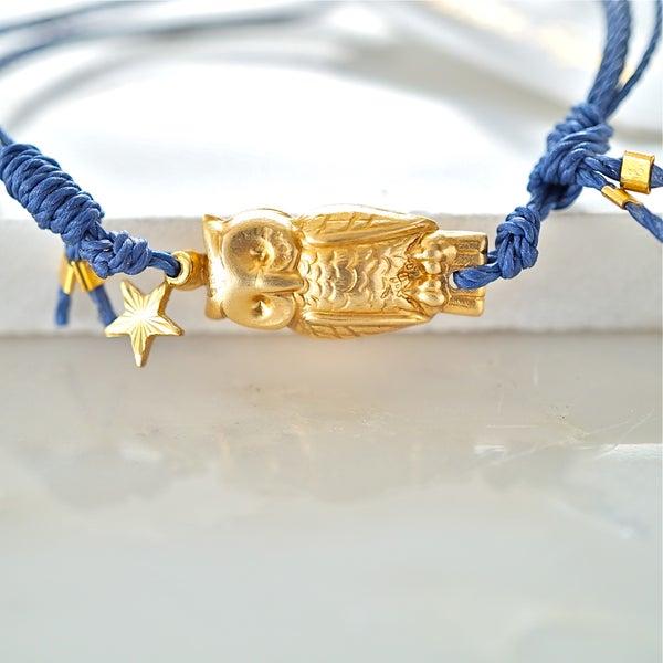 Image of Owl and star friendship bracelet