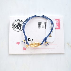 Image of Owl and star friendship bracelet