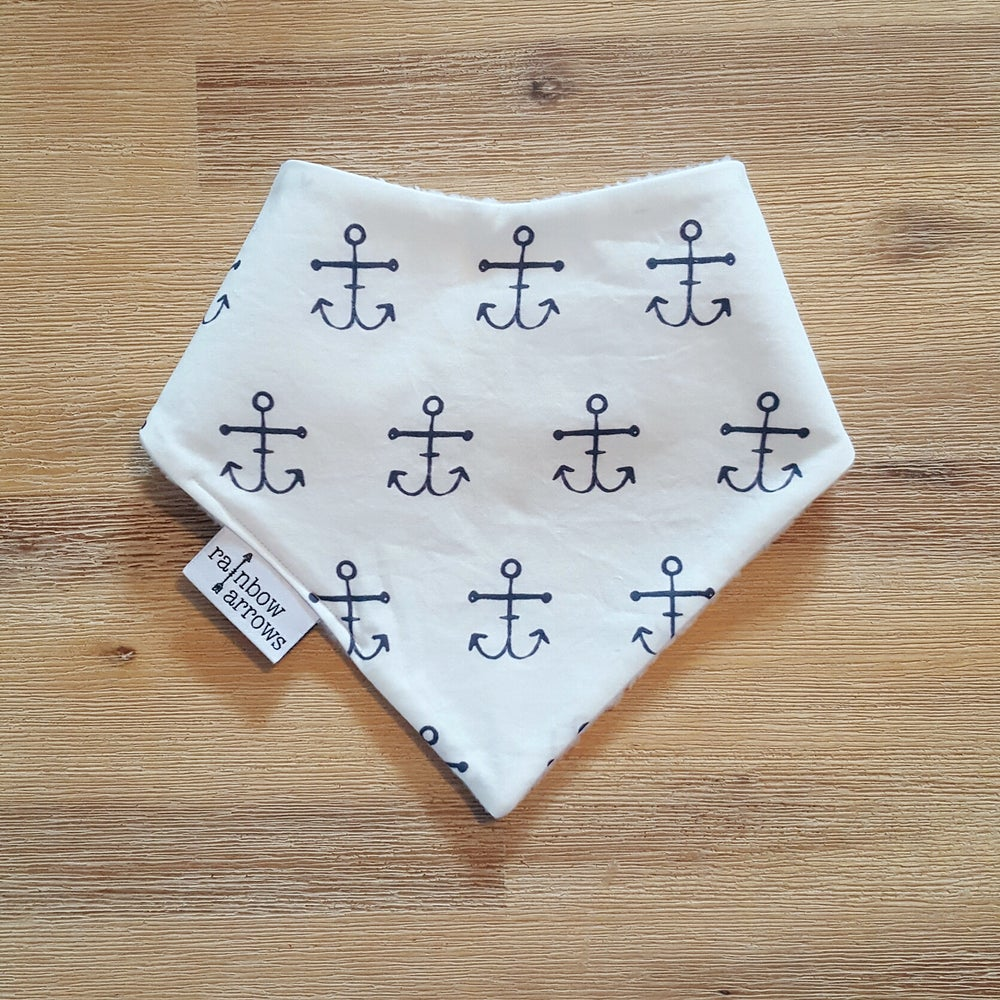 Image of ANCHORS- Bandana Bib