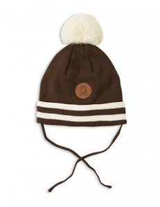 Image of Stripe Hat, brown, Mini Rodini (40€) -60%