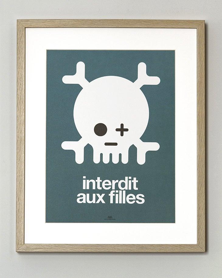 Image of FIN DE SÉRIE // Affiche Keep out filles