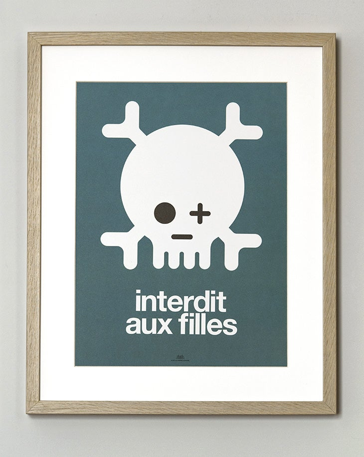 Image of Affiche Keep out filles