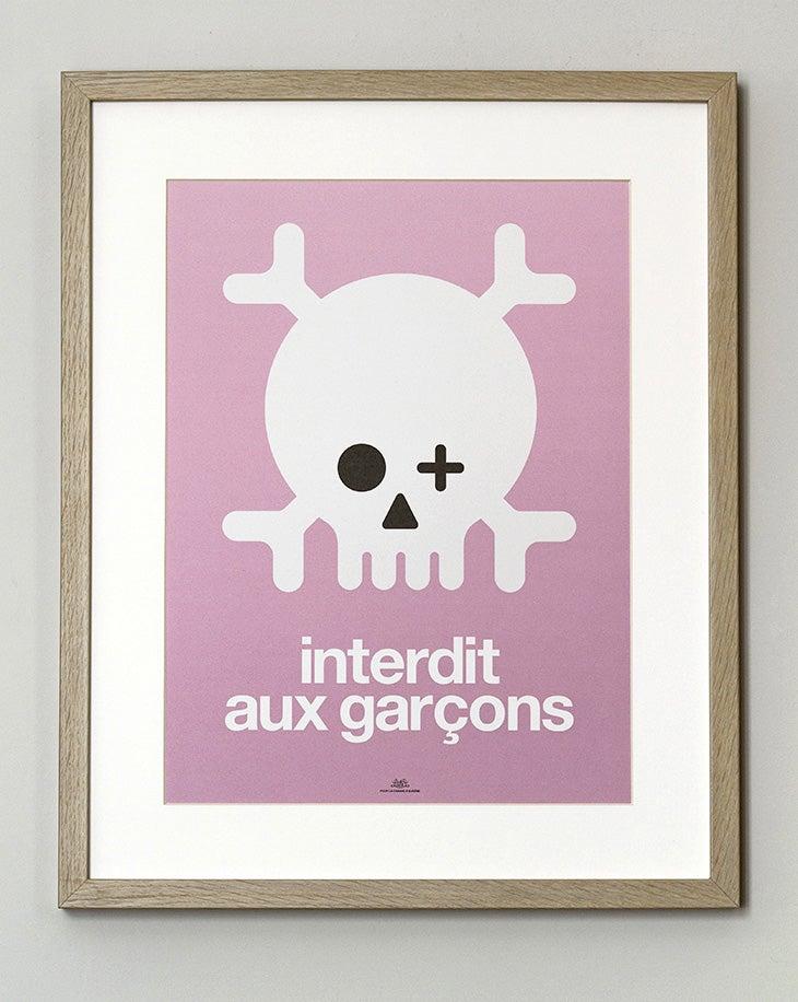 Image of FIN DE SÉRIE // Affiche Keep out garçons