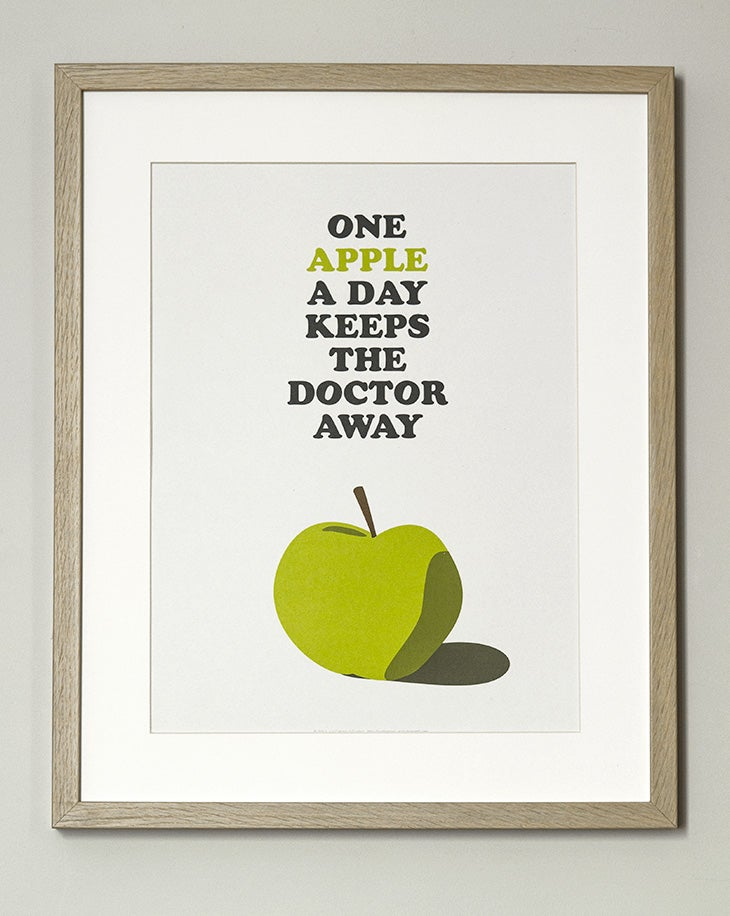"""Image of Affiche """"One Apple…"""""""