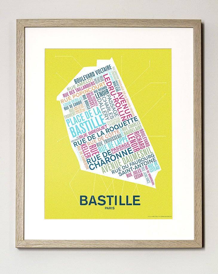 Image of Affiche Bastille - Paris