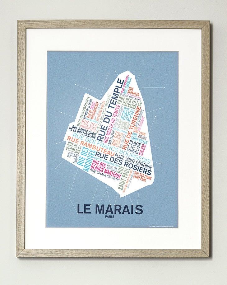 Image of Affiche Le Marais - Paris