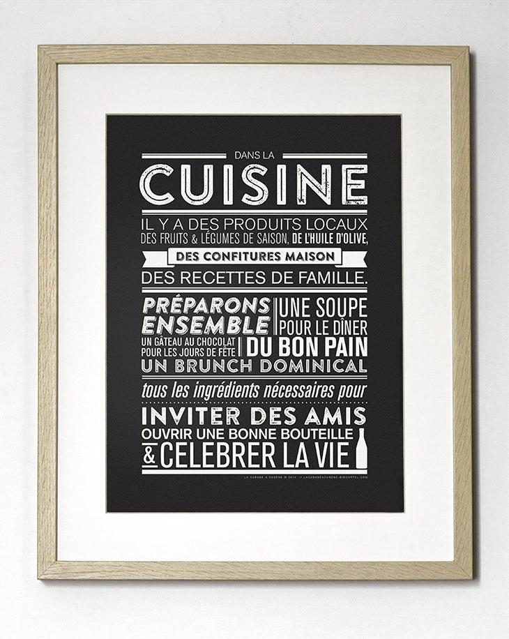 Image of Affiche Dans la cuisine SOLDE -30%