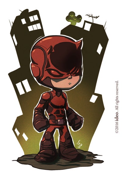 Image of Chibi Daredevil Print