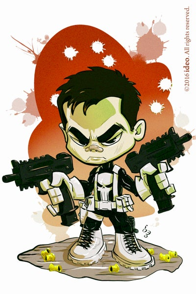 Image of Chibi Punisher Print