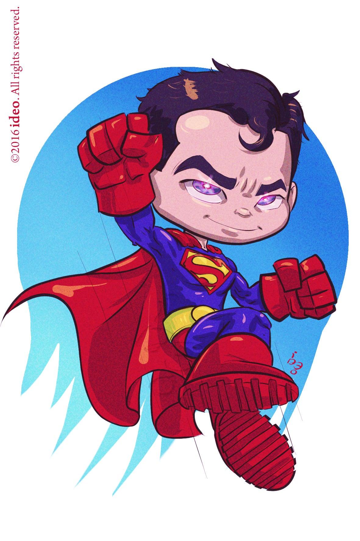Image of Chibi Superman Print