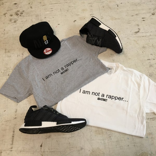 "Image of I AM NOT A RAPPER ""GREY & WHITE"" T-SHIRT"