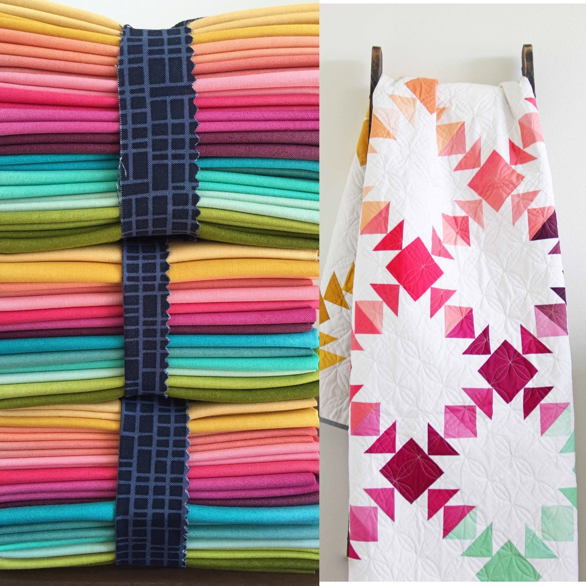 V And Co Prism Ombr 233 Fabric Bundle With Paper Pattern