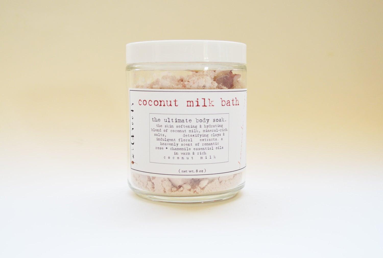 Image of :COCONUT MILK MINERAL BATH: rose + chamomile