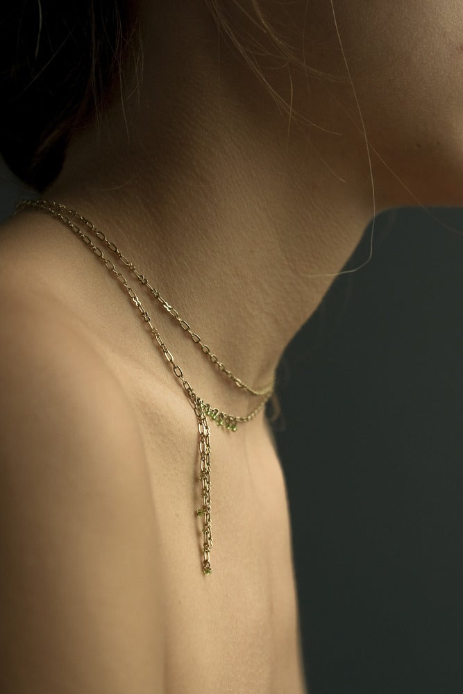 "Image of Collier Perle ""Cravate"" / Chaine OR"