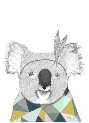 """Image of Affiche A4 «Koala"""""""