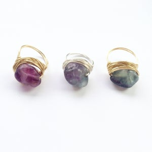 Image of Lake Ring - polished Fluorite for Power