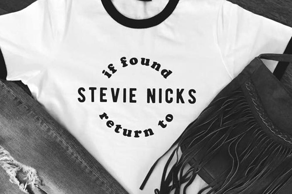 Image of if found return to STEVIE NICKS t-shirt